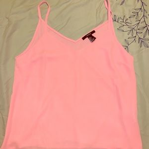 Lightweight Forever21 Bright Pink Tank- Size Lg
